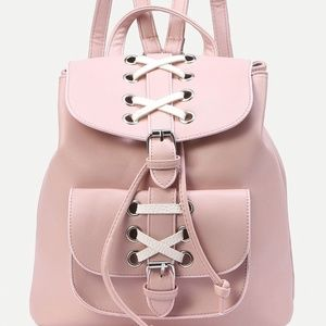 Handbags - mini lace Buckle Backpack new faux leather